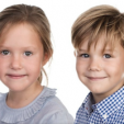 Princess Josephine and Prince Vincent of Denmark at 7