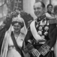 Princess Frederica of Hanover and Hereditary Prince Paul of Greece on their wedding day in 1938