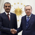 Sheikh Tamim of Qatar and the President of Turkey