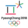 The logo for the PyeongChang 2018 Winter Olympics