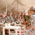 King Abdullah during his visit to the Northern Military Zone