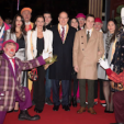 Members of the Monaco Princely Family at the opening night of the Circus Festival de Monte-Carlo