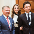 King Abdullah, Queen Rania and Crown Prince Hussein