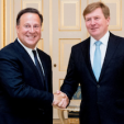 King Willem-Alexander and the Panamanian President