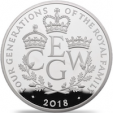 A new coin released by The Royal Mint to mark four generations of the Windsors