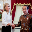 Queen Maxima with President Widodo of Indonesia