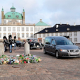 Prince Henrik's casket is transferred from Fredensborg Palace to Amalienborg in Copenhagen