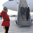 The Belgian King and Queen arrive in Canada