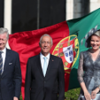 The Belgian King and Queen with the Portuguese President