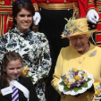 Princess Eugenie and Queen Elizabeth at the Maundy Service