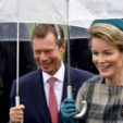Grand Duke Henri of Luxembourg and Queen Mathilde of Belgium pictured after a lunch aboard the M.S. Princesse Marie-Astrid from Schengen to Stadtbredimus on the third and last day of a State Visit of the Belgian royal couple to the Grand Duchy of Luxembourg, Thursday 17 October 2019. PUBLICATIONxINxGERxSUIxAUTxONLY DIRKxWAEM 05688184