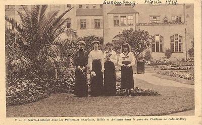 Click image for larger version  Name:The four eldest princesses outside Schloss Colmar-Berg.jpg Views:82 Size:215.1 KB ID:300762